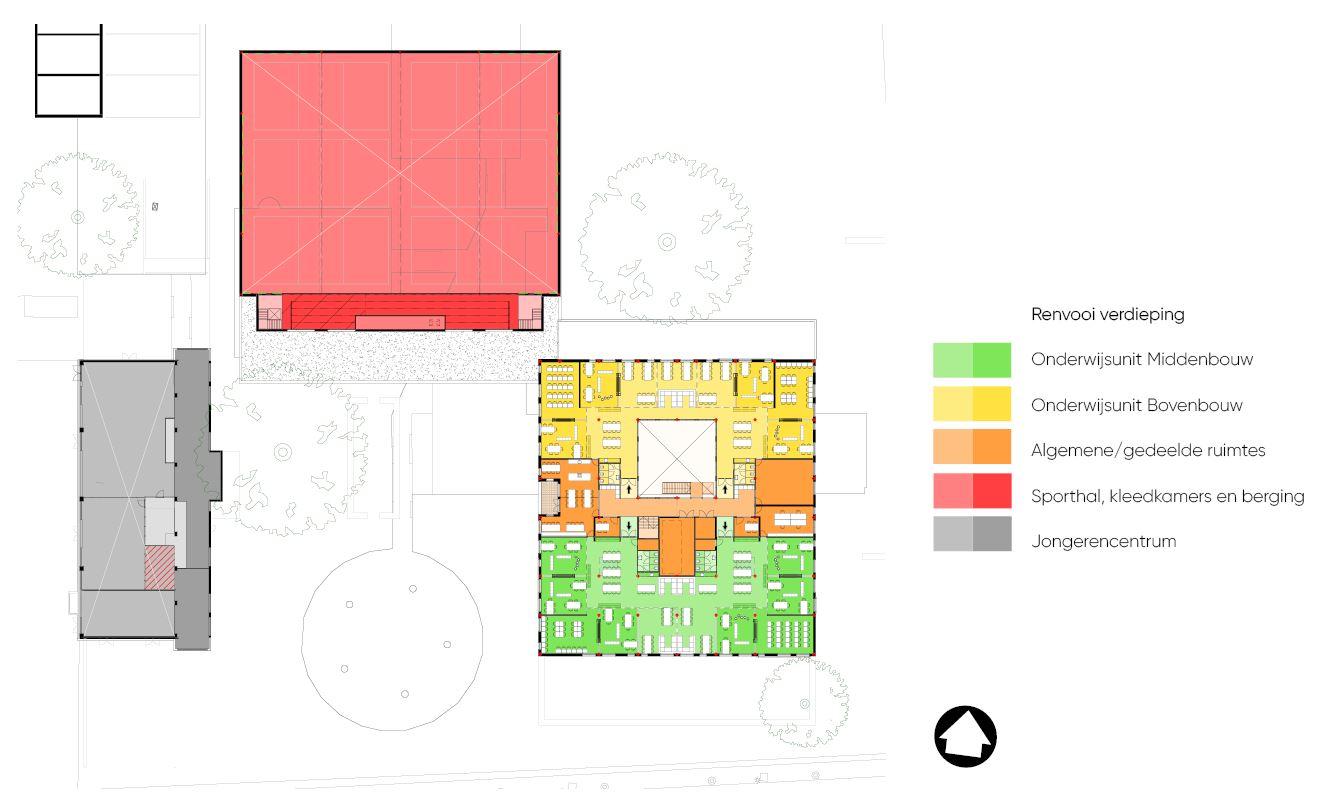 <p>indeling verdieping plangebied (KOW)</p>