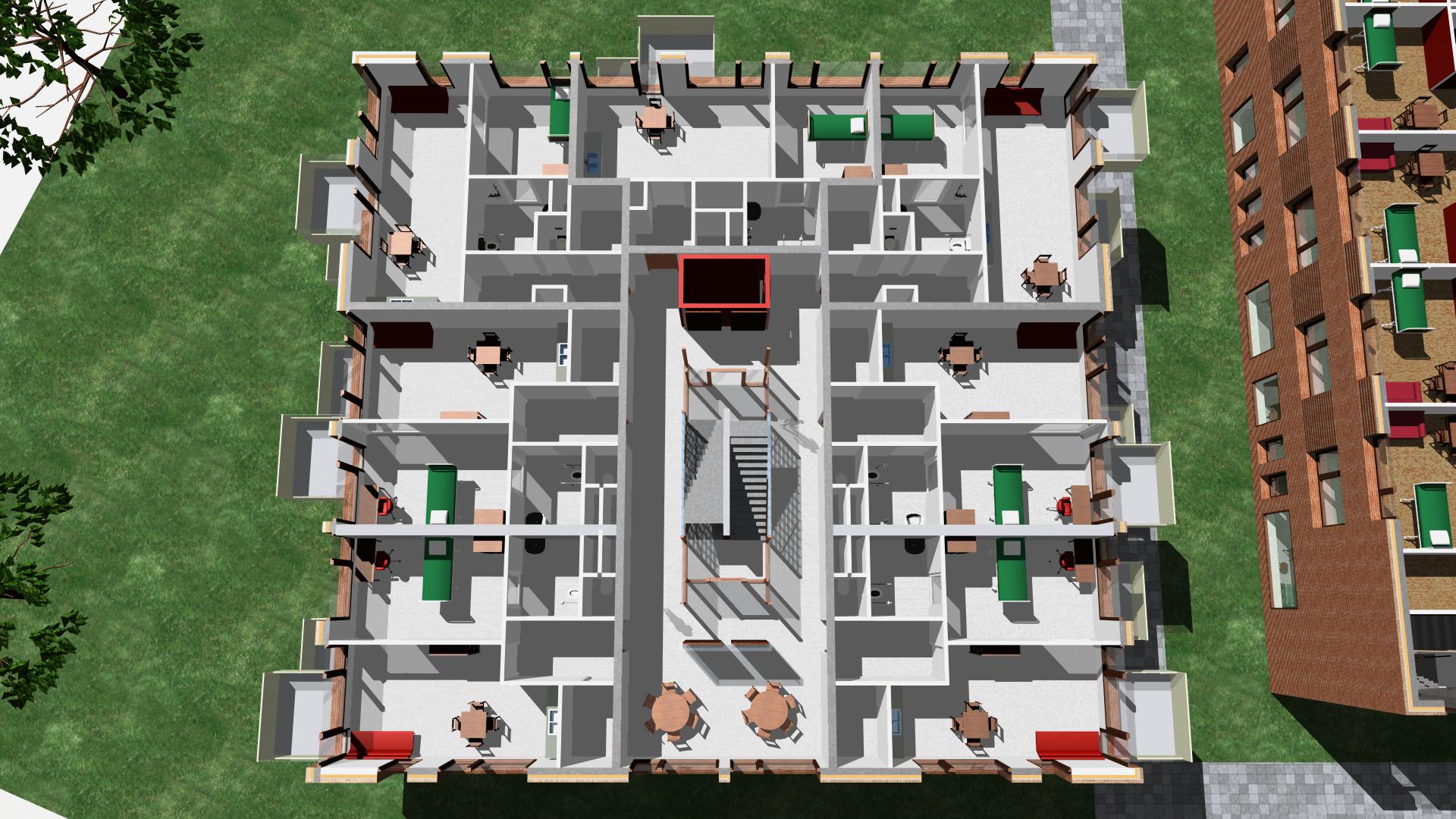<p>Verdieping woongebouw Klaasje Zevenster GGH Architecten</p>