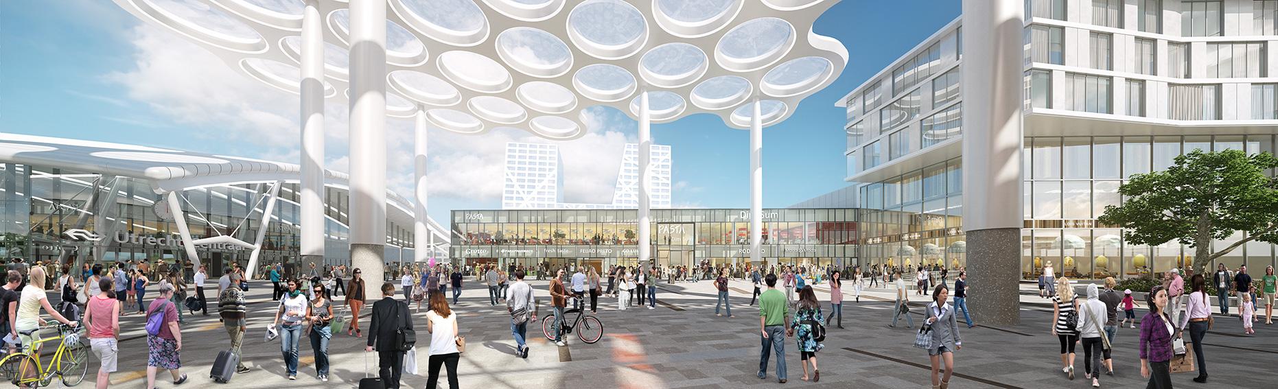 <p>Rendering Stationsplein: MoederscheimMoonen Architects</p>