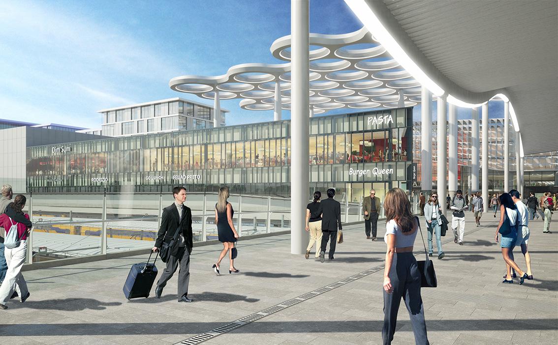 <p>Rendering spoorgevel: MoederscheimMoonen Architects</p>