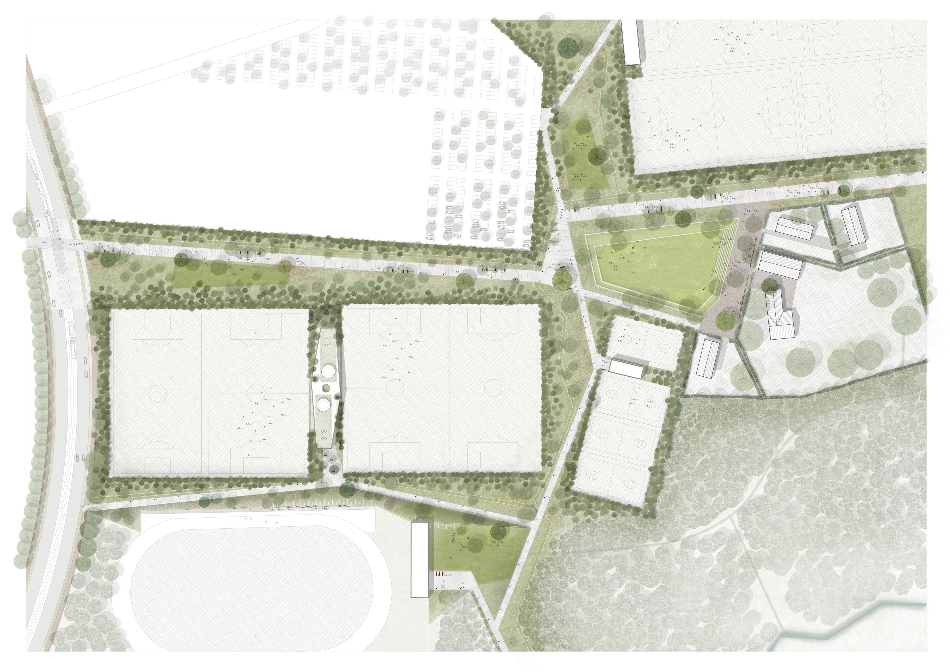 <p>masterplan sportkamer Park Groot Schijn</p>