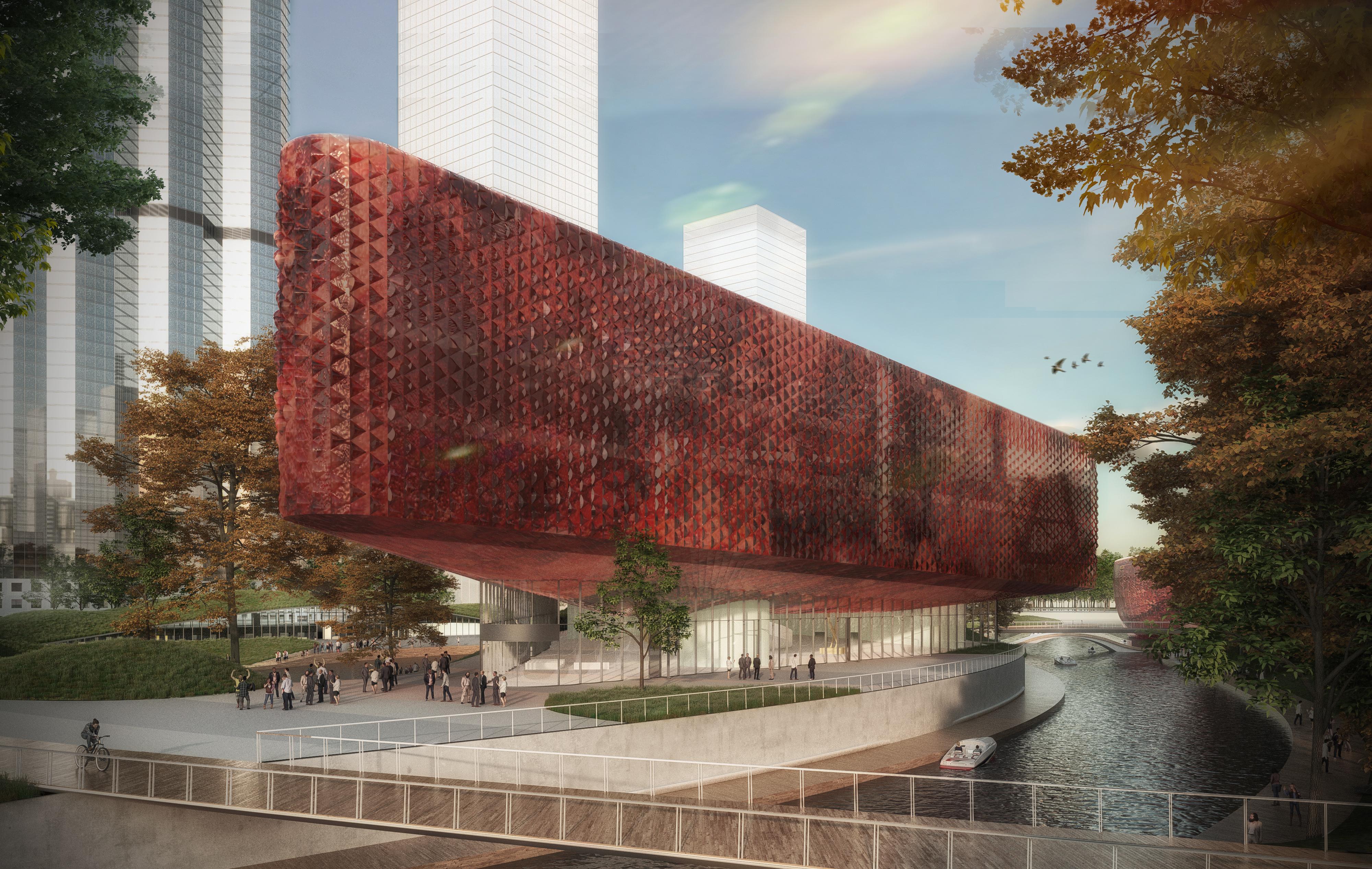 <p>Benthem Crouwel Architects en Powerhouse Company, Hangzhou. Beeld 3D Studio Prins</p>