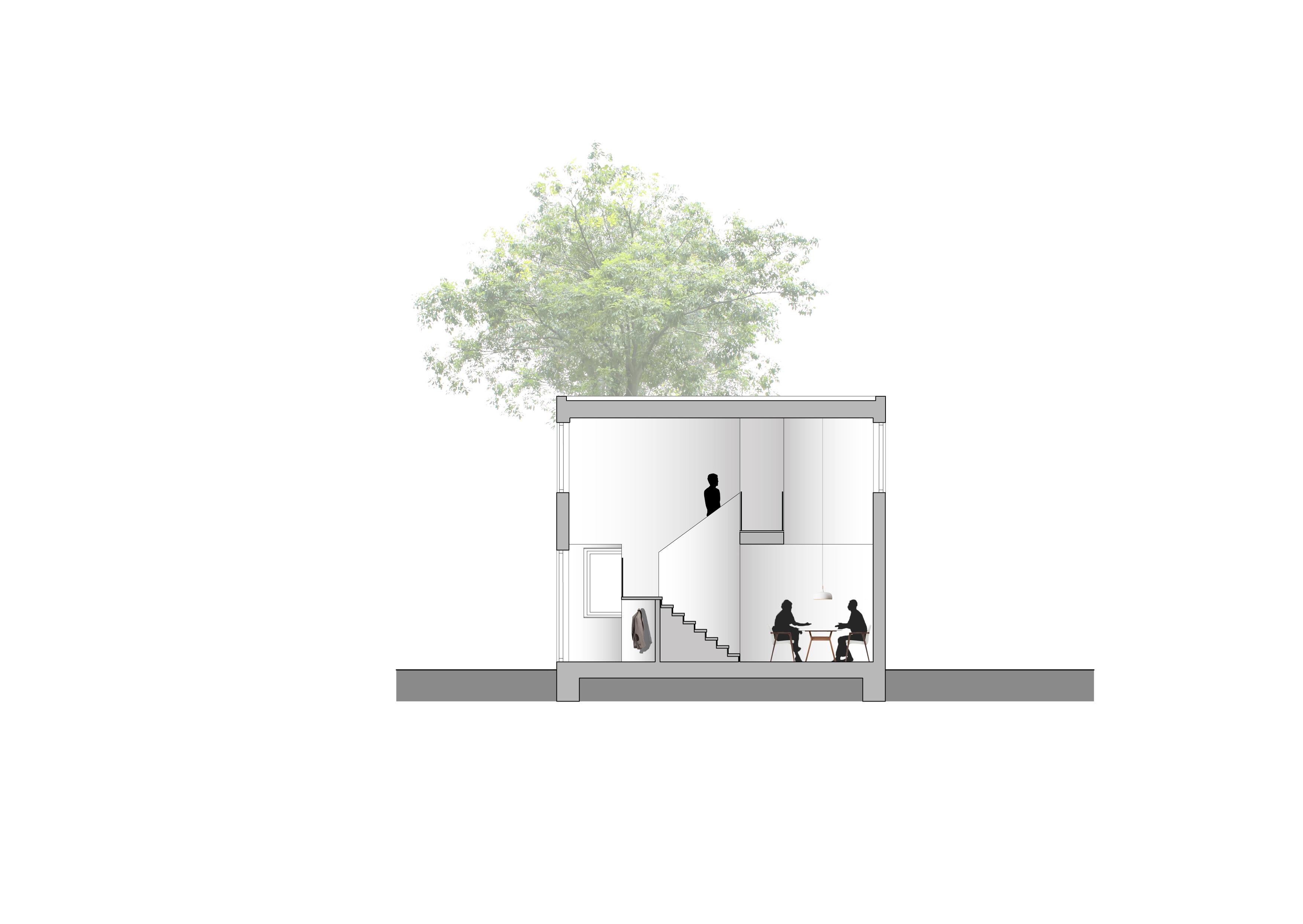 <p>Doorsnede: Reset architecture</p>