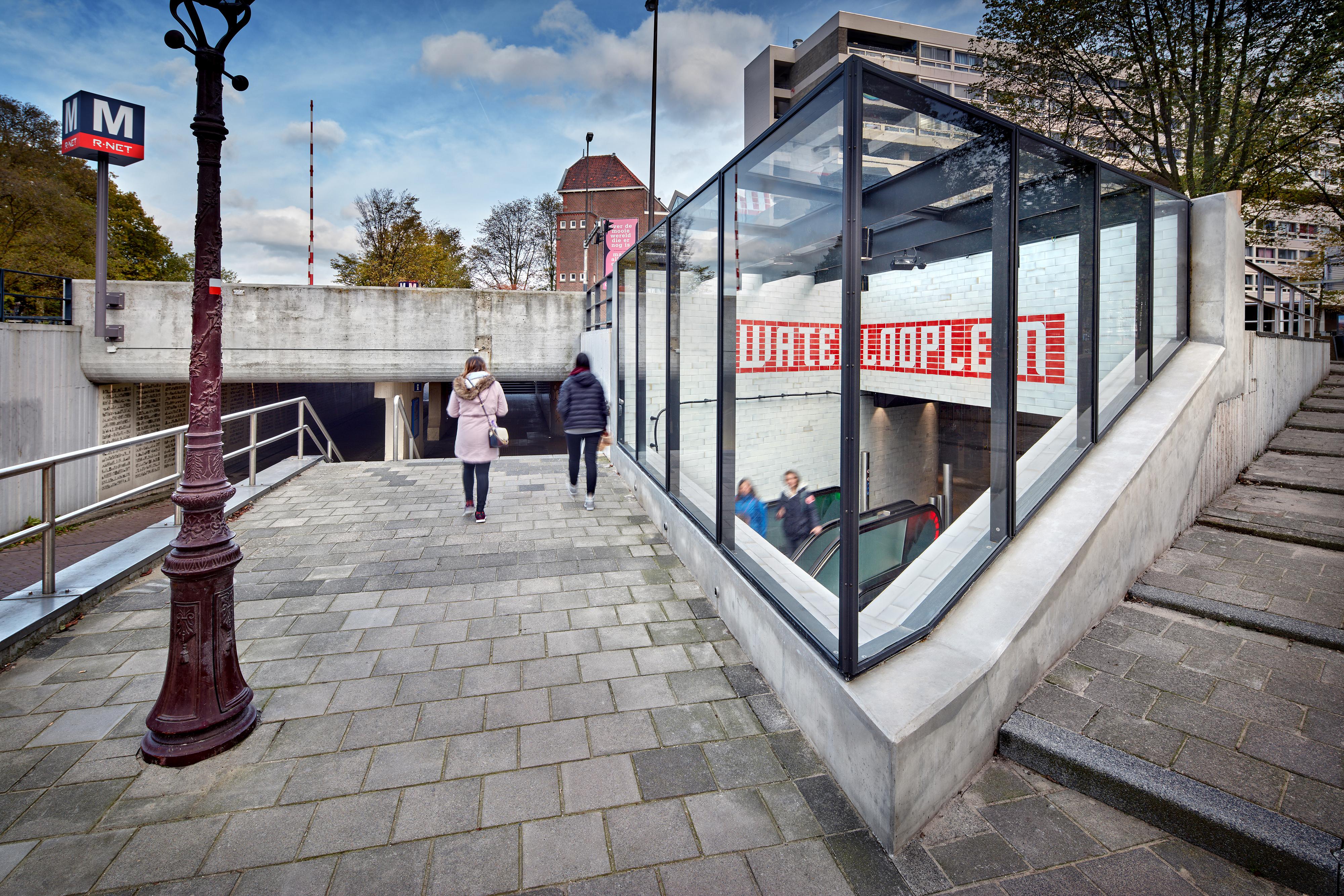 <p>Group A; Metrostation Waterlooplein</p>