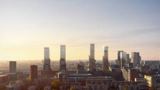 Den Haag tot 180 meter de lucht in met woontorens