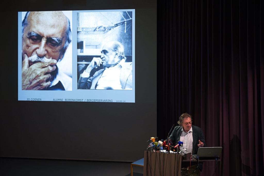 Jo Coenen tijdens de Alumnibijeenkomst in 2014, beeld PEP
