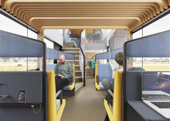 Mecanoo ontwerpt inrichting 'trein van de toekomst'