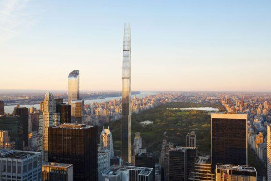Render: Steinway Tower is dunste wolkenkrabber ter wereld