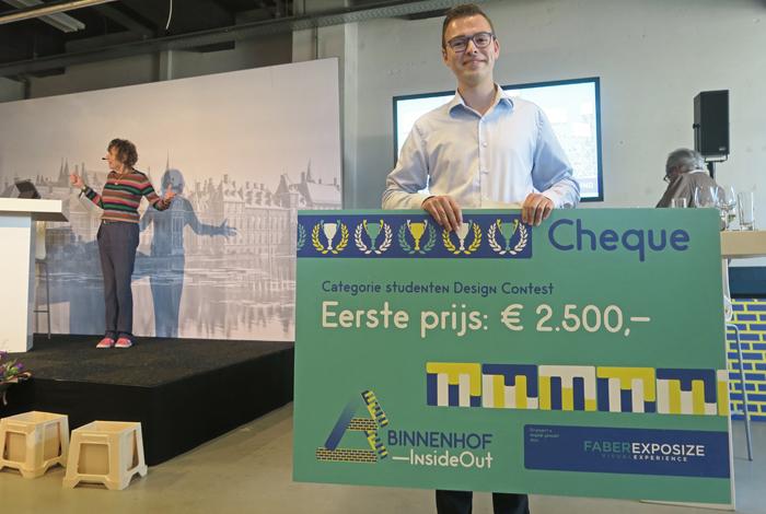 Rick-Abelen is de winnaar van de categorie studenten van de prijsvraag Binnenhofinsideout