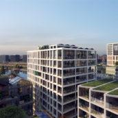 Vorm verwerft kavel 3 op Oostenburg in Amsterdam