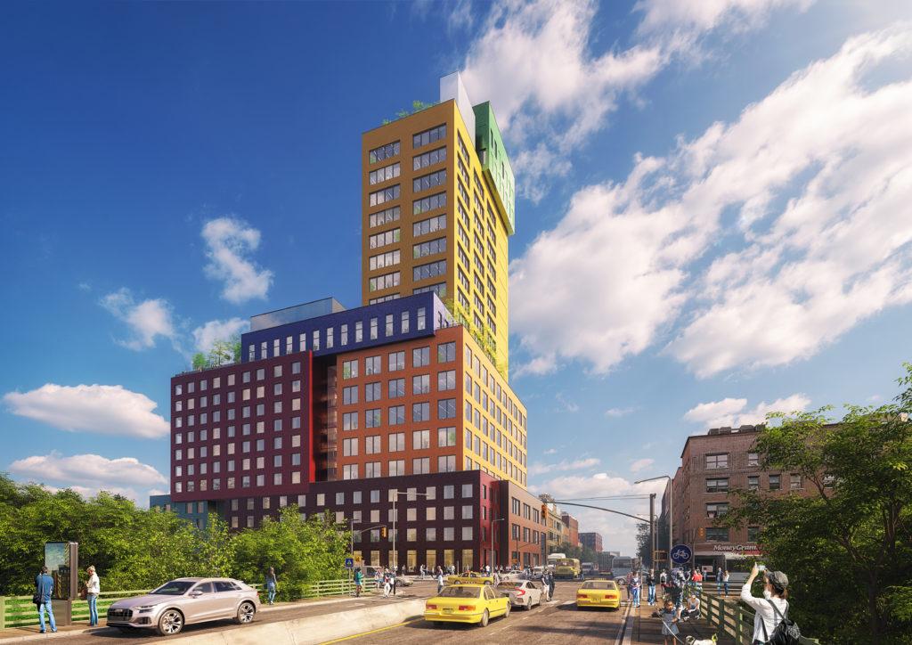 Radio Tower & Hotel in New York, beeld MVRDV
