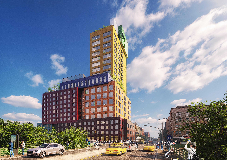 <p>Radio Tower &#038; Hotel in New York, beeld MVRDV</p>