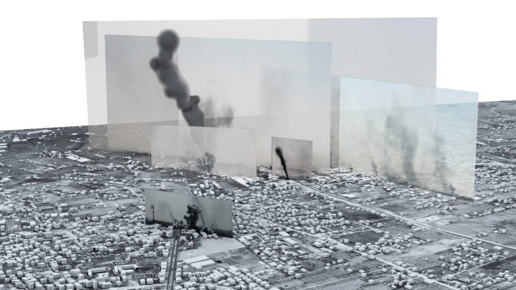 The Bombing of Rafah Gaza Palestine. Beeld Forensic Architecture
