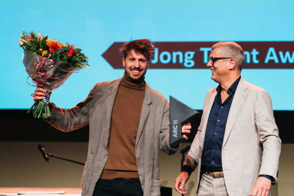Tomas Dirrix ontvangt ARC18 Jong Talent Award