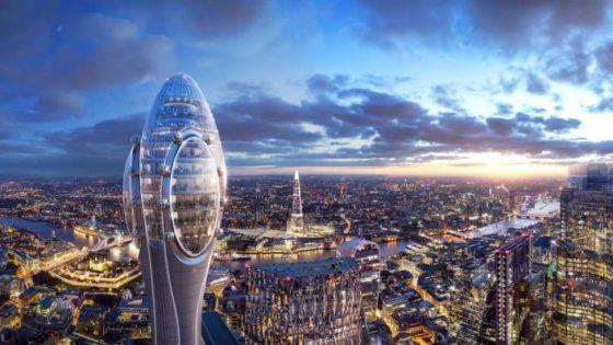 The Tulip Londen door Foster + Partners wordt daadwerkelijk gebouwd
