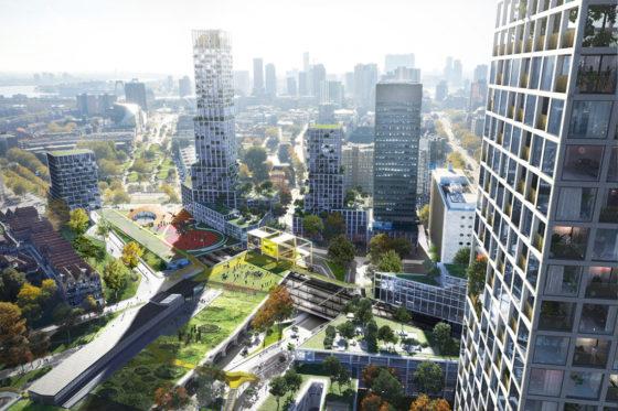 Plan voor herontwikkeling stationsgebied Hofplein Rotterdam
