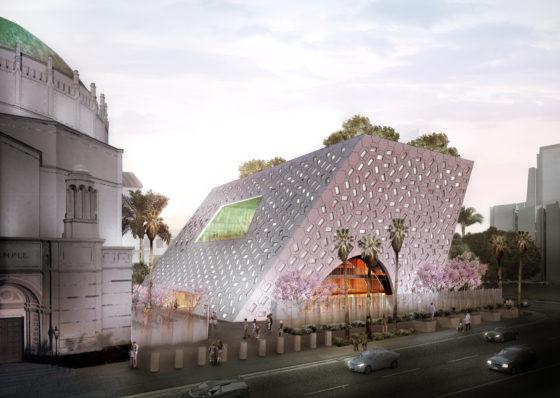Bouwstart Audrey Irmas Pavilion in LA door OMA