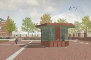 BureauVanEig ontwerpt portiersloge Westergasfabriekterrein Amsterdam