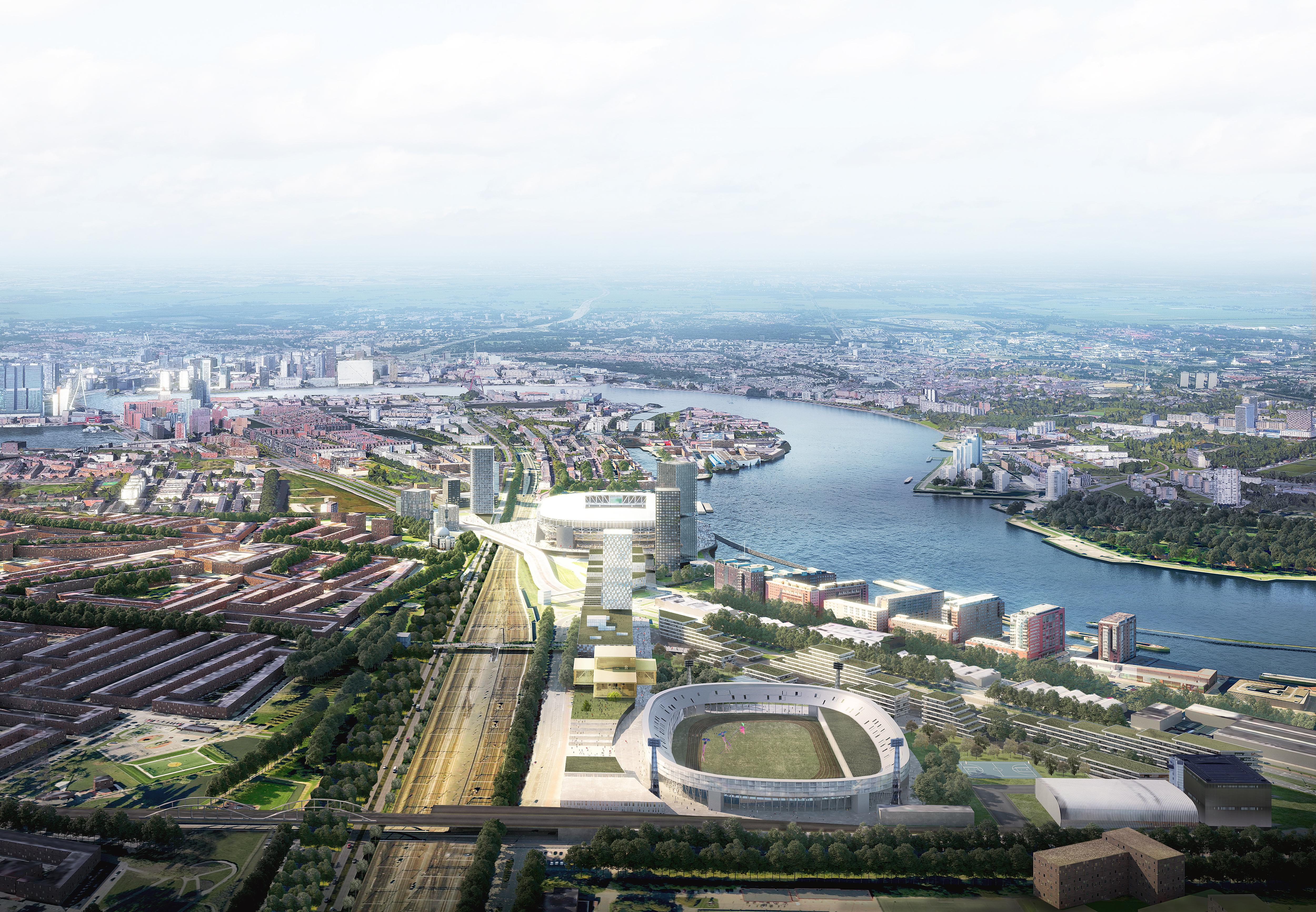 <p>Het nieuwe Feyenoord City Stadion door OMA/David Gianotten</p>
