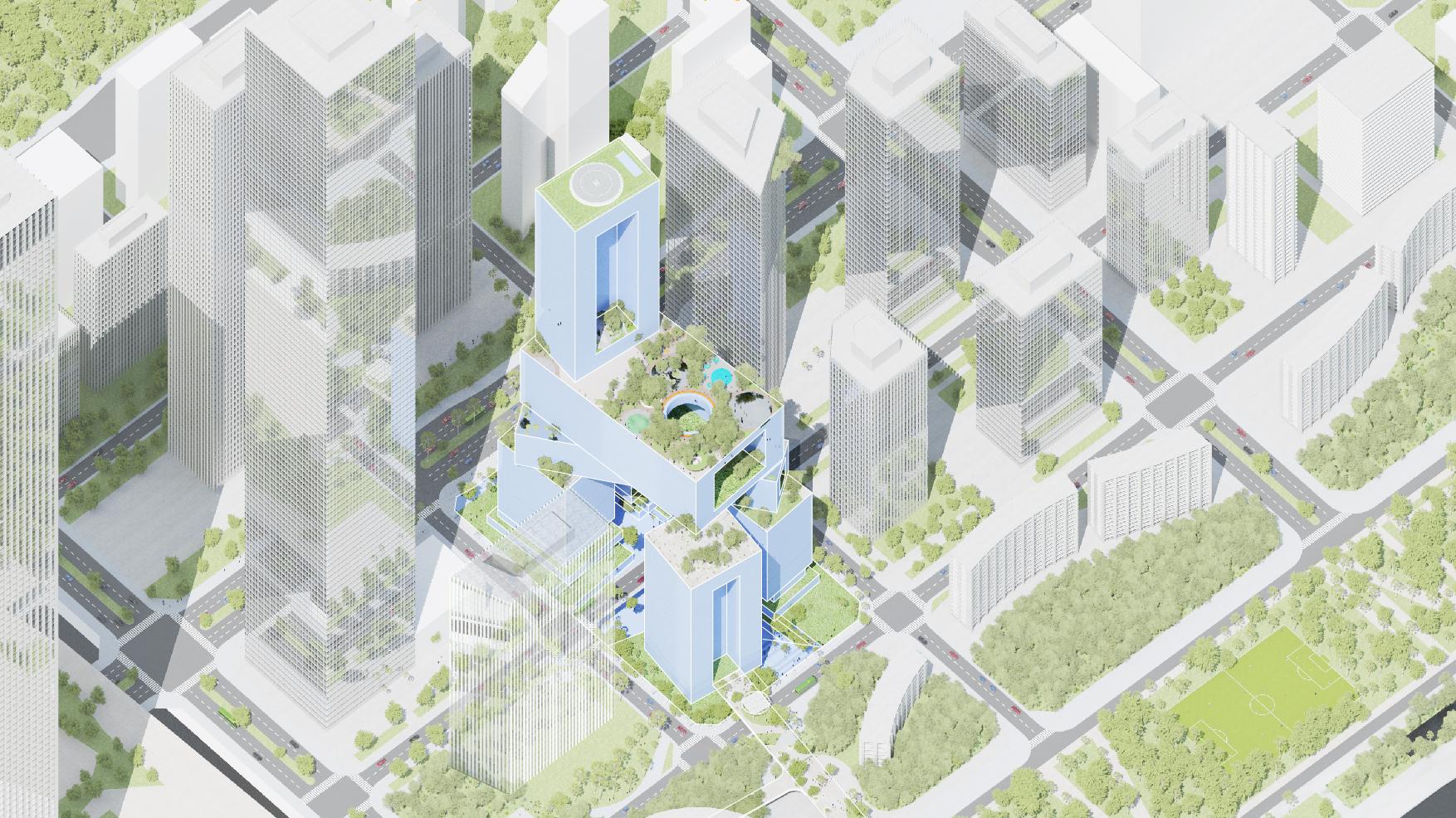 <p>Hoogbouw Vanke 3D City door MVRDV in Shenzhen (China)</p>