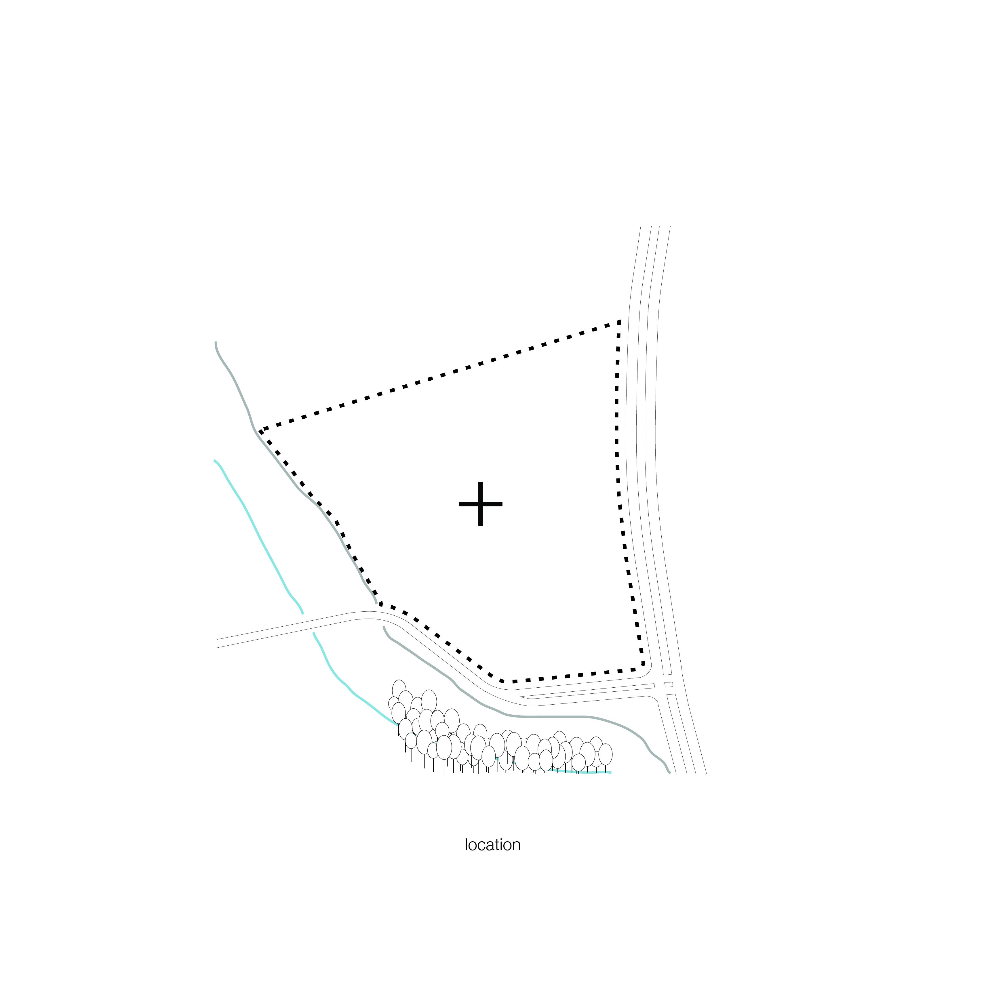 <p>schema locatie. Crematorium Siesegem -KAAN Architecten. </p>