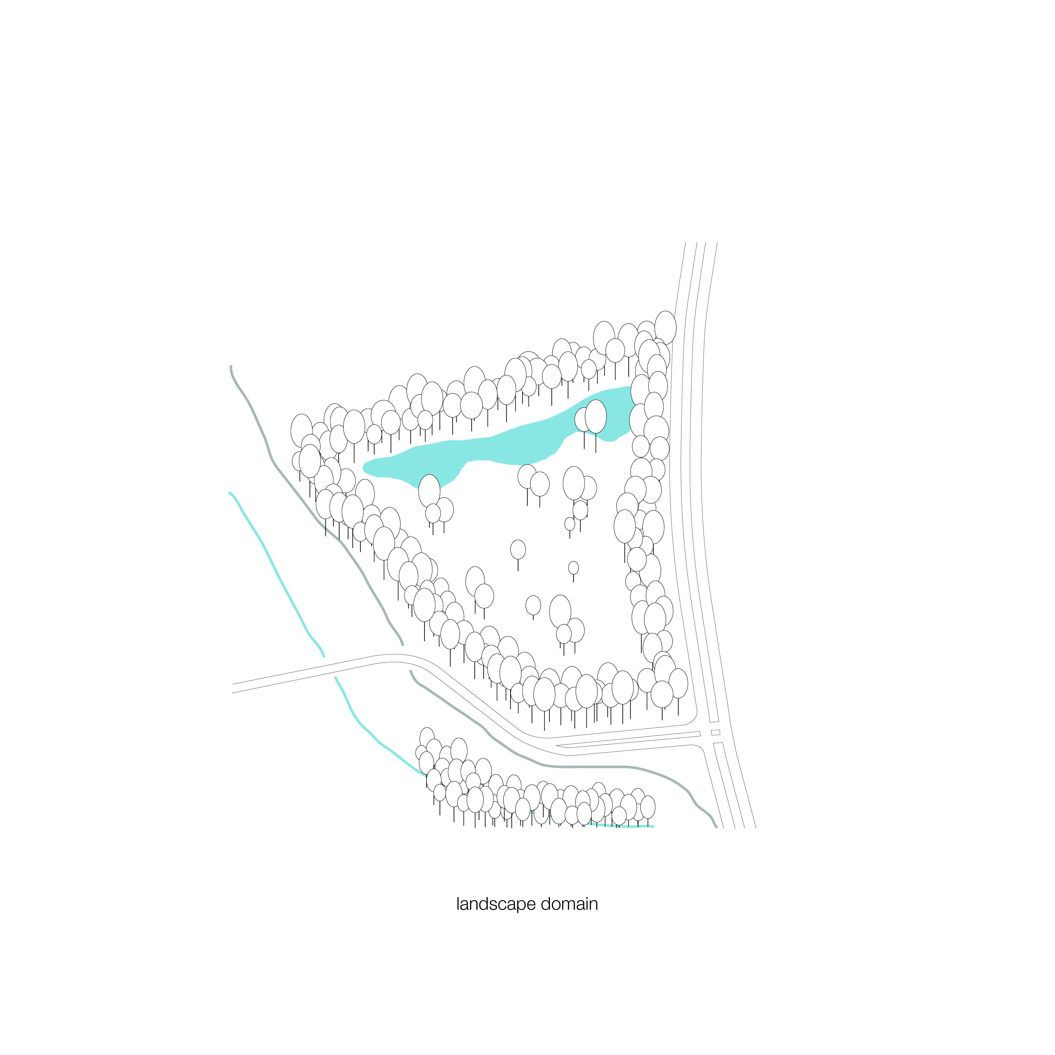 <p>Schema landschap Crematorium Siesegem -KAAN Architecten. </p>