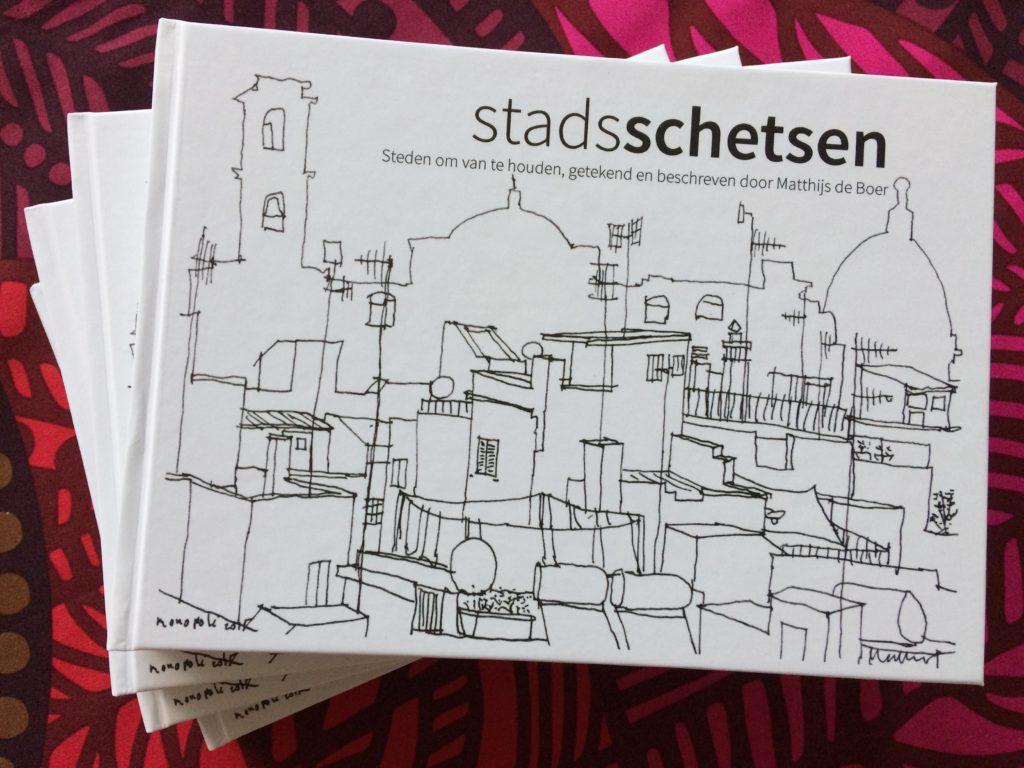 Boek: Stadsschetsen - Steden om van te houden, getekend en beschreven door Matthijs de Boer