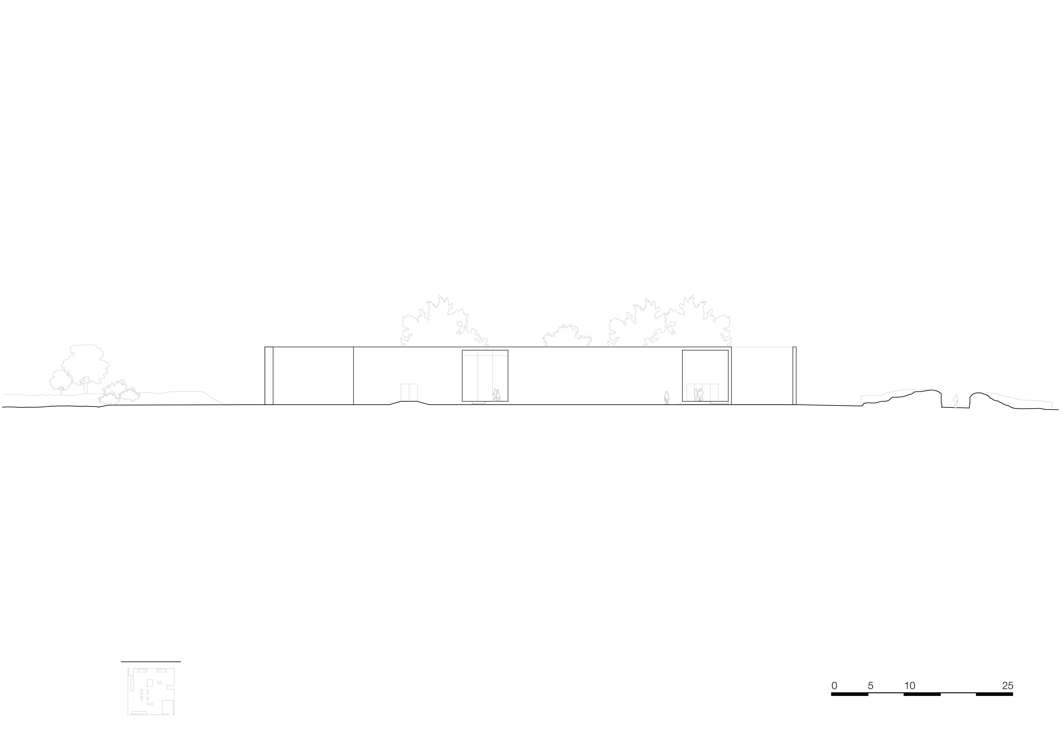 <p>facade east 1_500. Crematorium Siesegem -KAAN Architecten. beeld Simone Bossi</p>