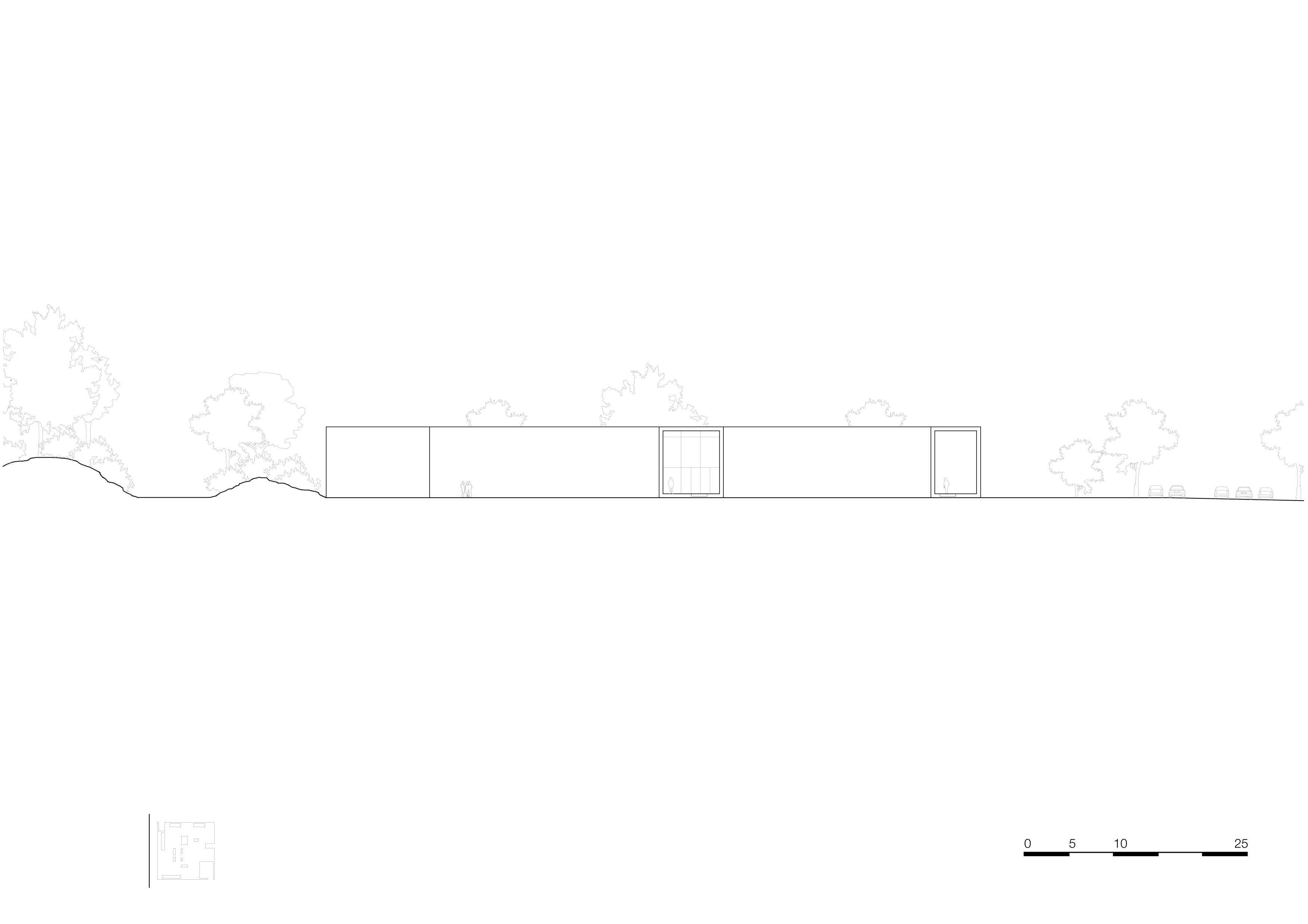 <p>facade north 1_500. Crematorium Siesegem -KAAN Architecten. beeld Simone Bossi</p>