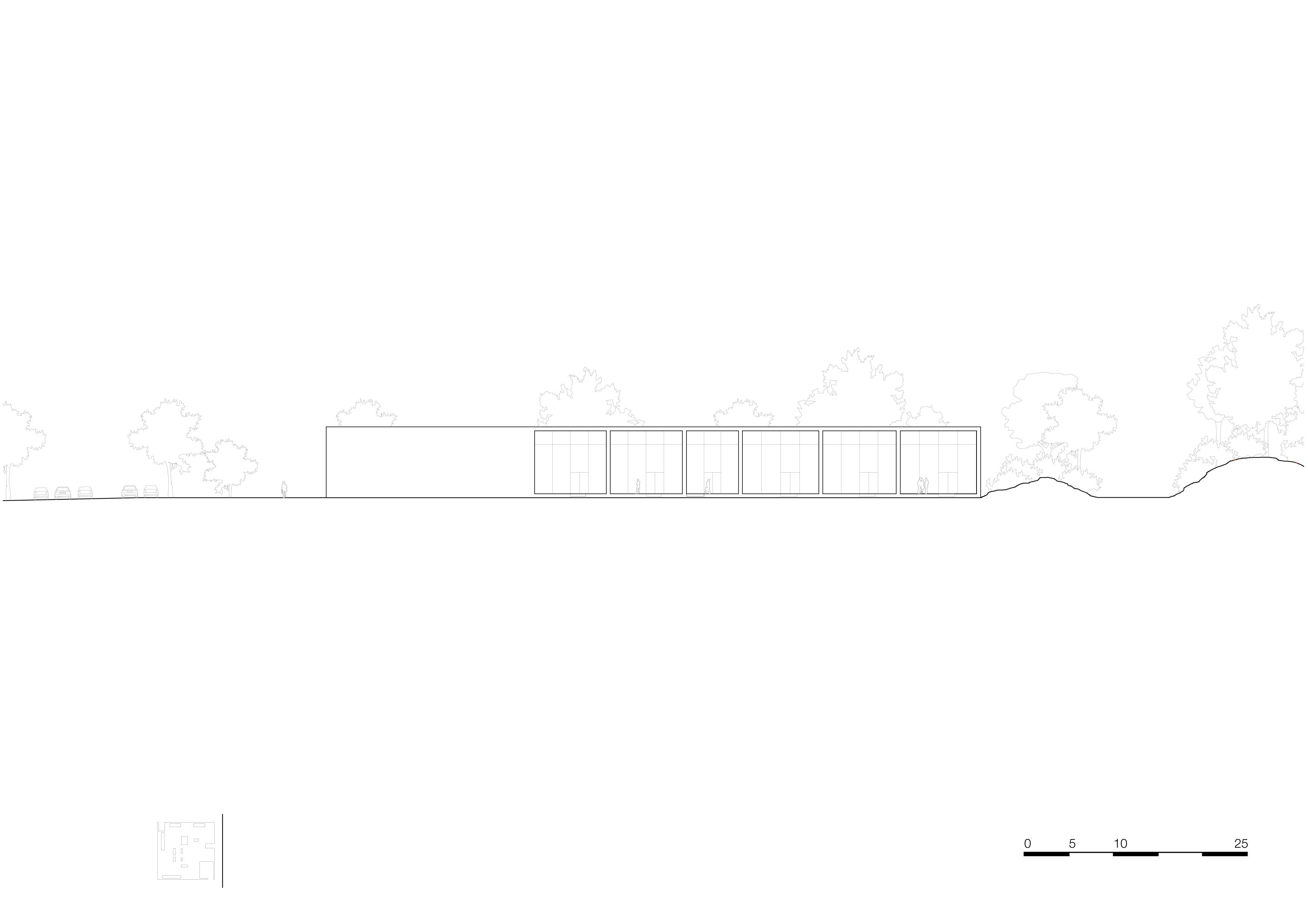 <p>facade south 1_500. Crematorium Siesegem -KAAN Architecten. beeld Simone Bossi</p>