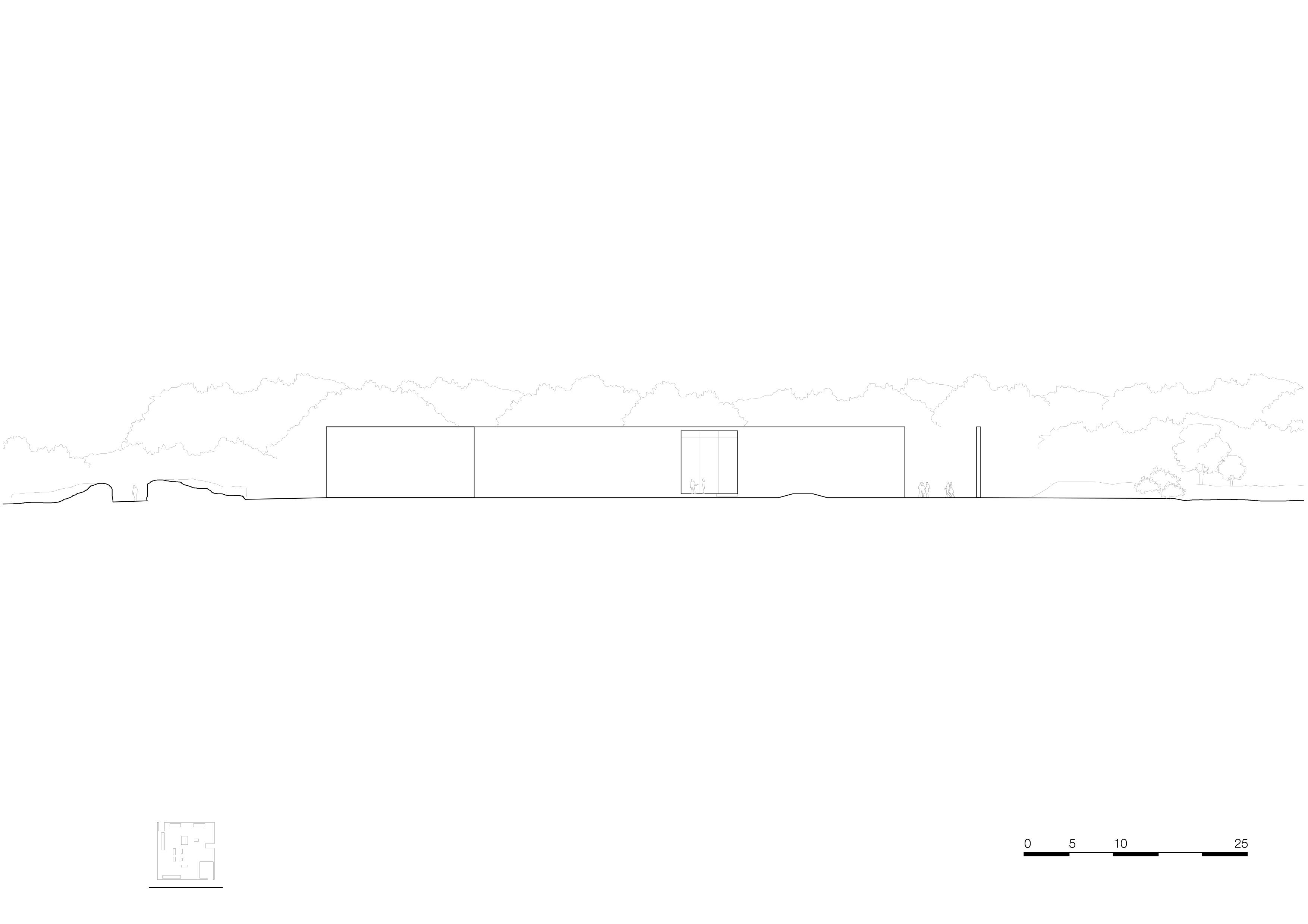 <p>facade west 1_500. Crematorium Siesegem -KAAN Architecten. </p>