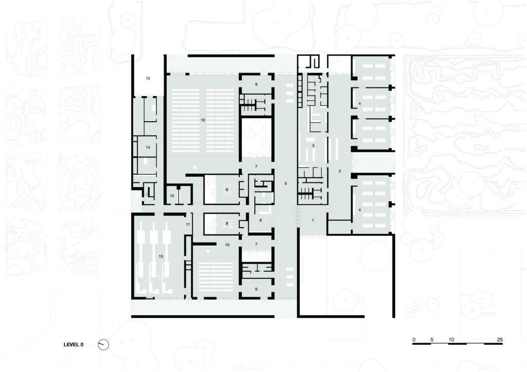 level 0. Crematorium Siesegem -KAAN Architecten. beeld Simone Bossi