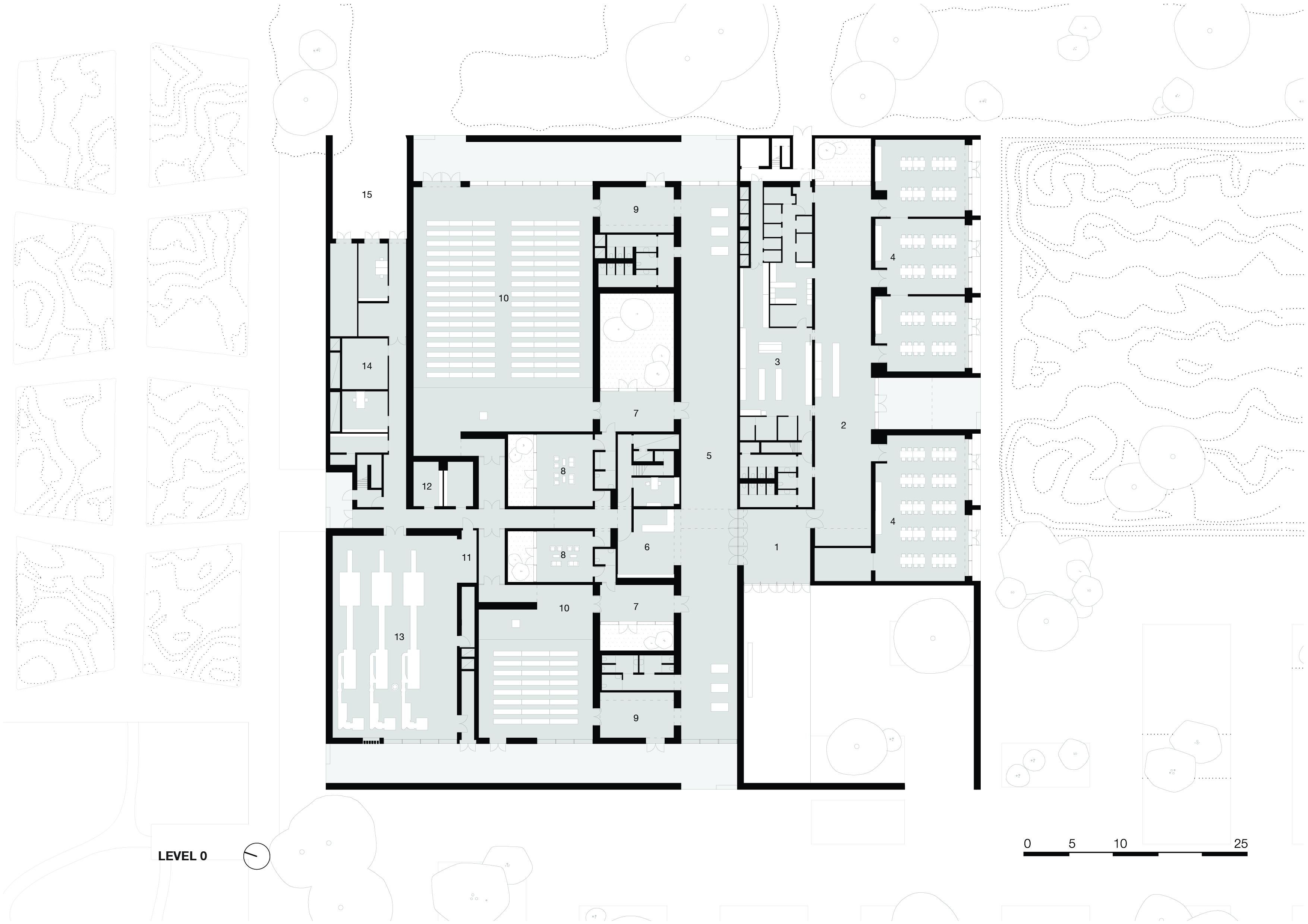 <p>level 0. Crematorium Siesegem -KAAN Architecten. beeld Simone Bossi</p>