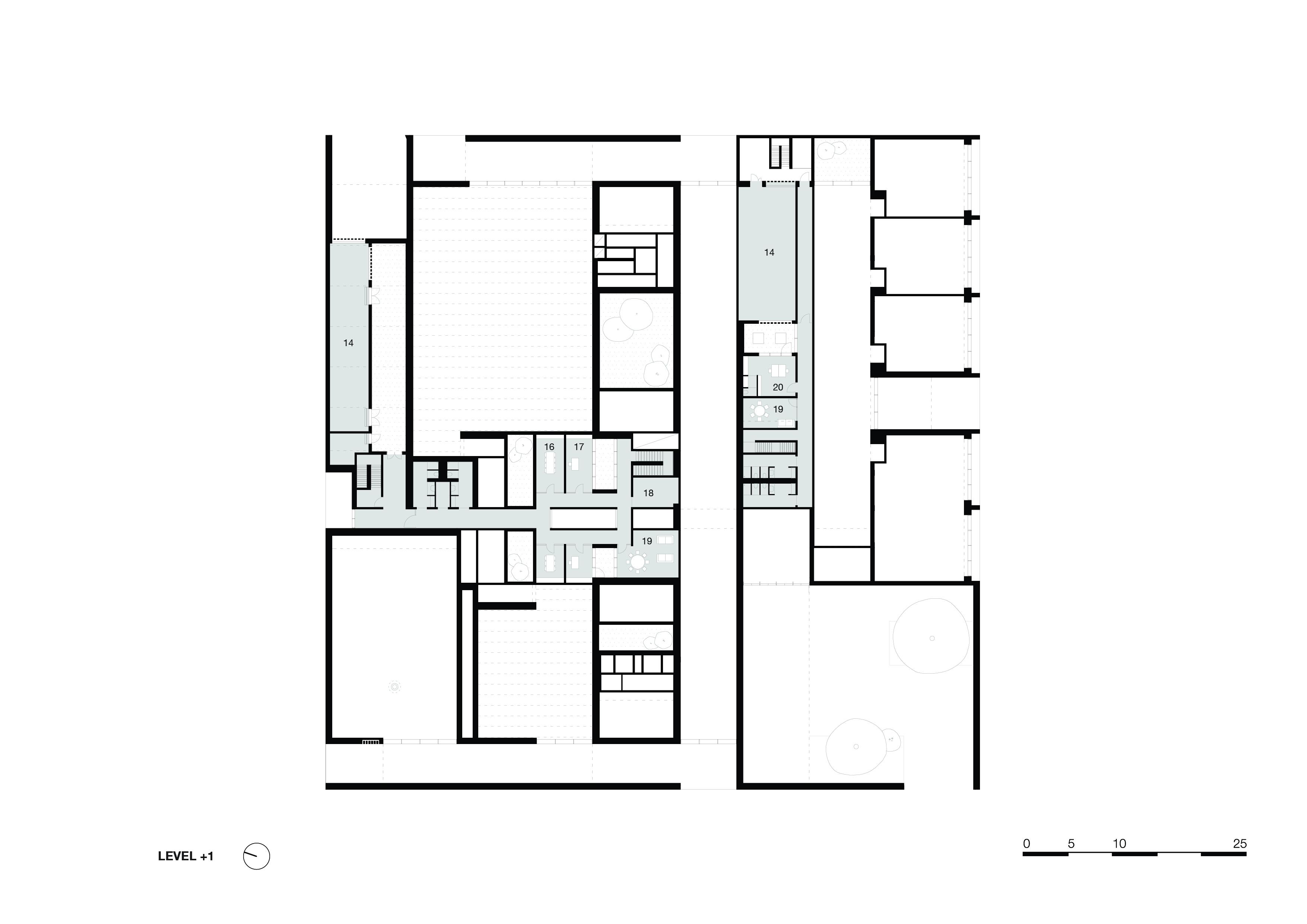 <p>level-1. Crematorium Siesegem -KAAN Architecten. beeld Simone Bossi</p>