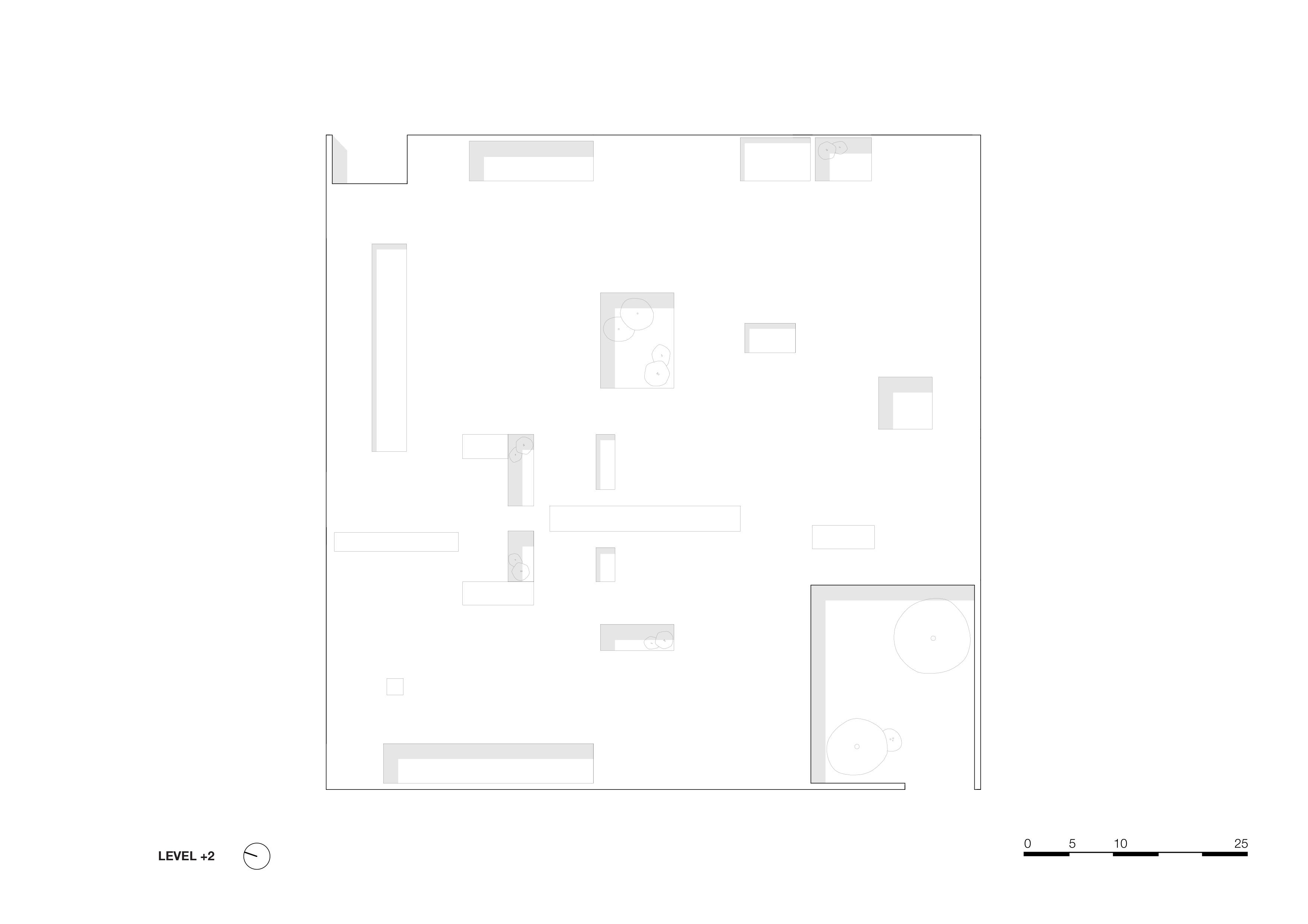 <p>level 2 1_500. Crematorium Siesegem -KAAN Architecten. beeld Simone Bossi</p>