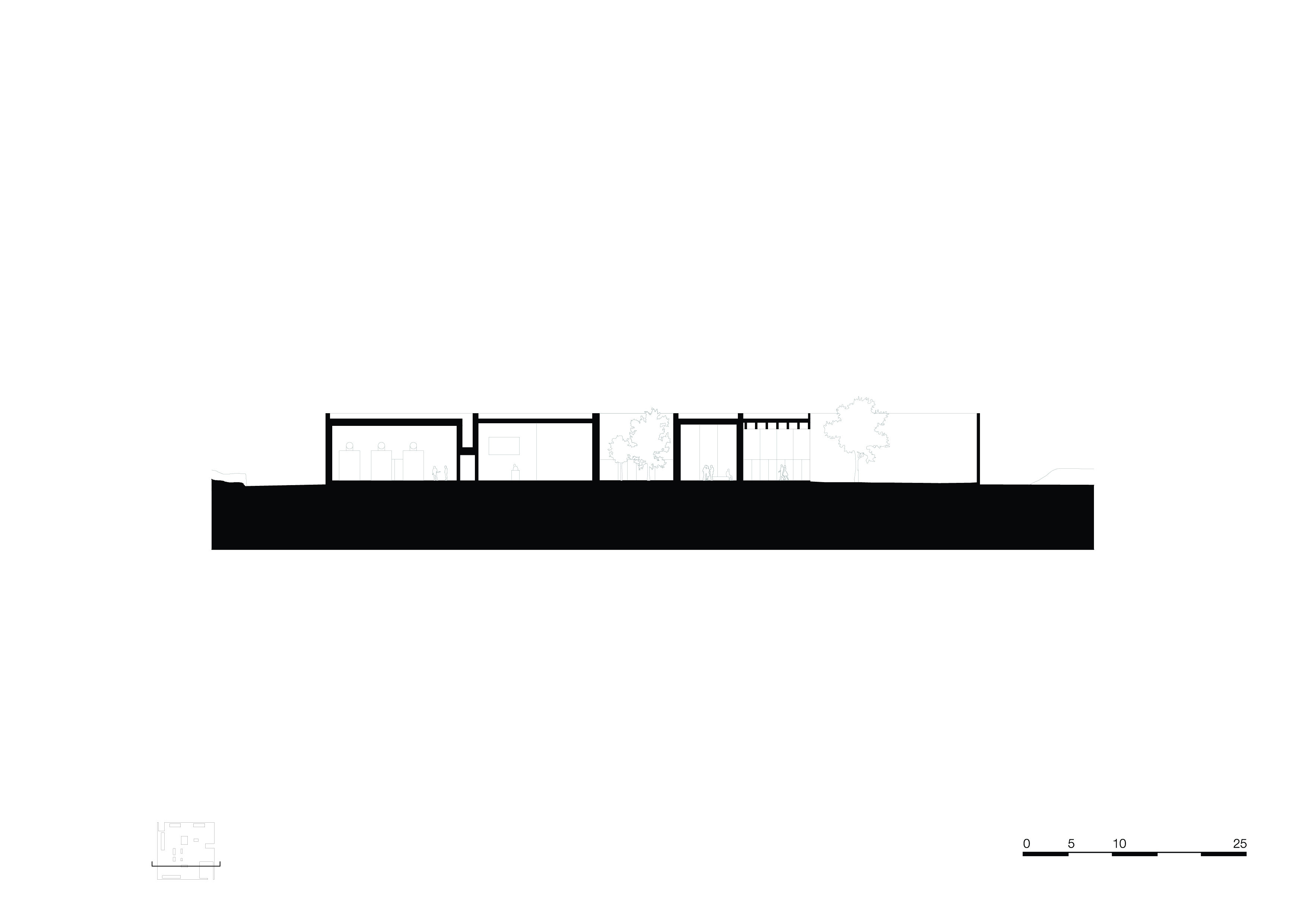 <p>section-a-a. Crematorium Siesegem -KAAN Architecten. beeld Simone Bossi</p>