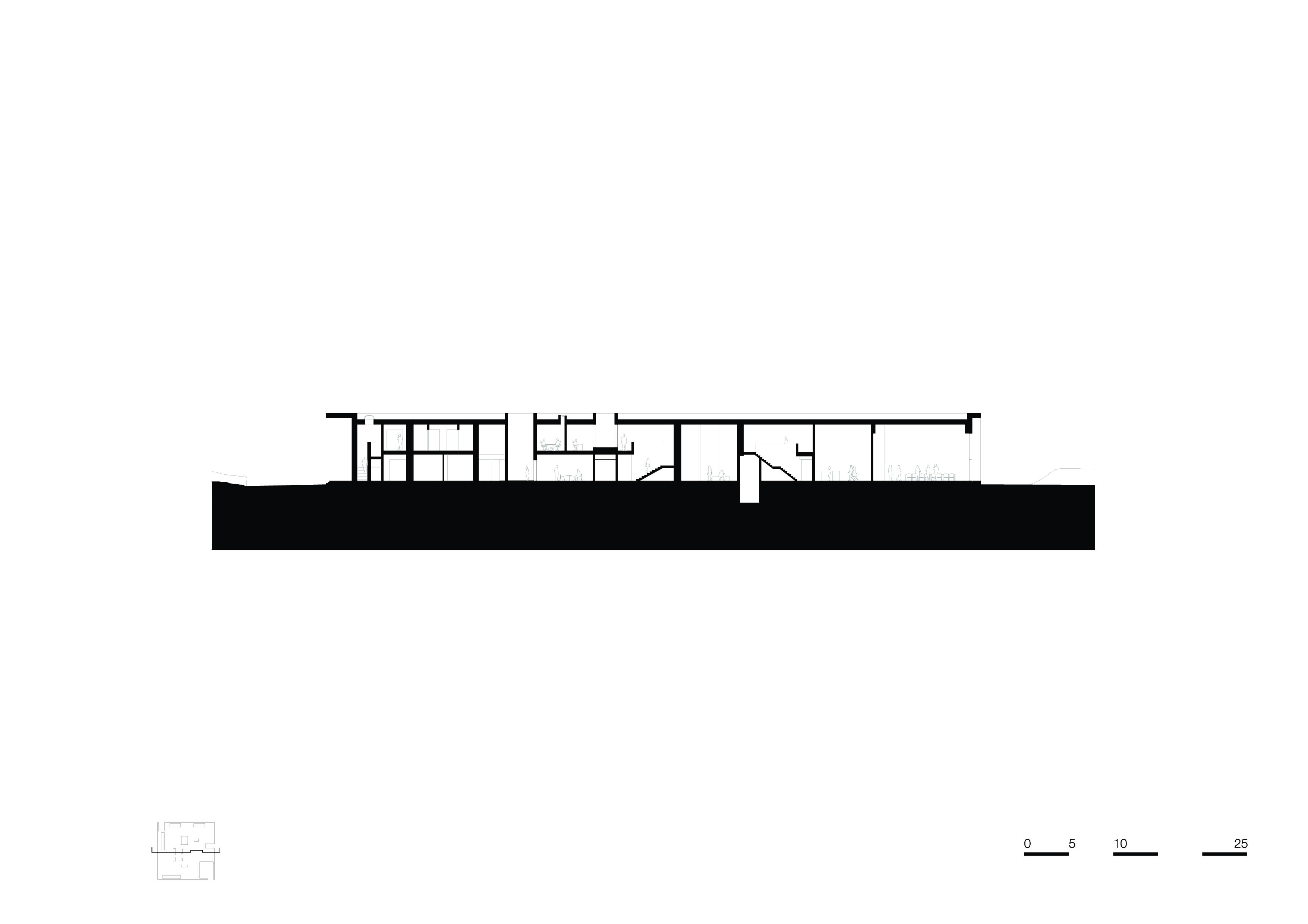 <p>section-b-b. Crematorium Siesegem -KAAN Architecten. beeld Simone Bossi</p>