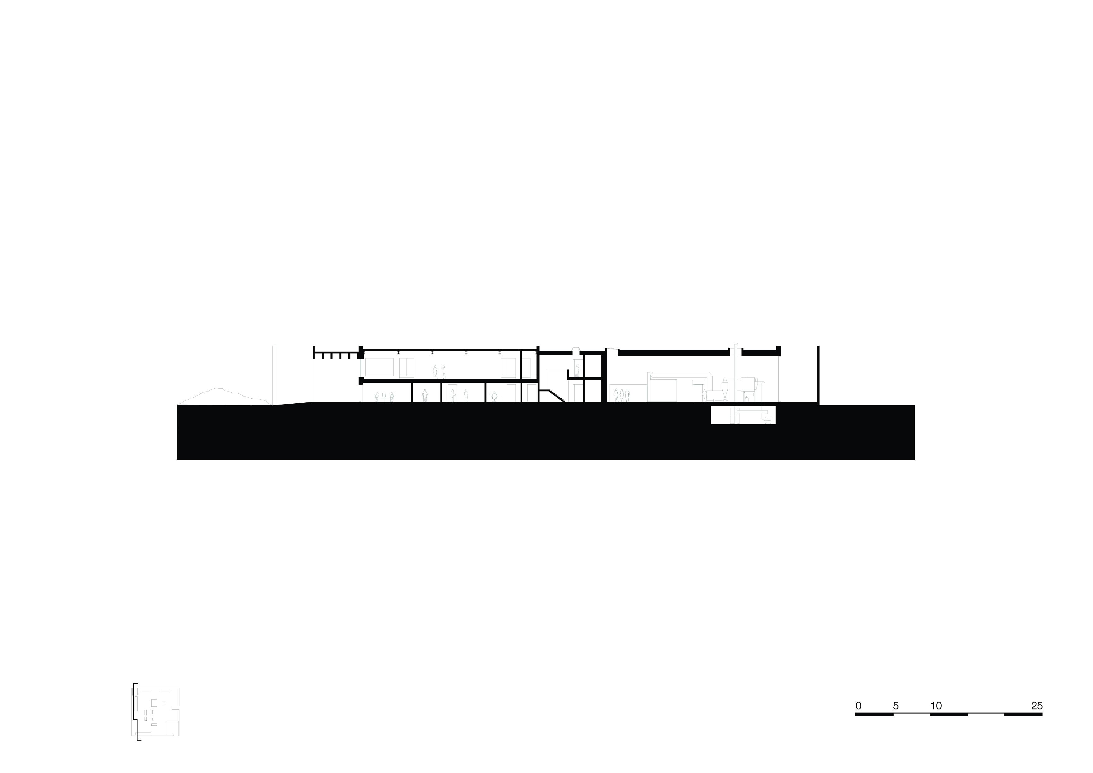 <p>section-d-d. Crematorium Siesegem -KAAN Architecten. beeld Simone Bossi</p>