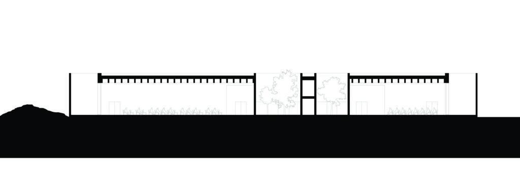 section-e-e. Crematorium Siesegem -KAAN Architecten. beeld Simone Bossi