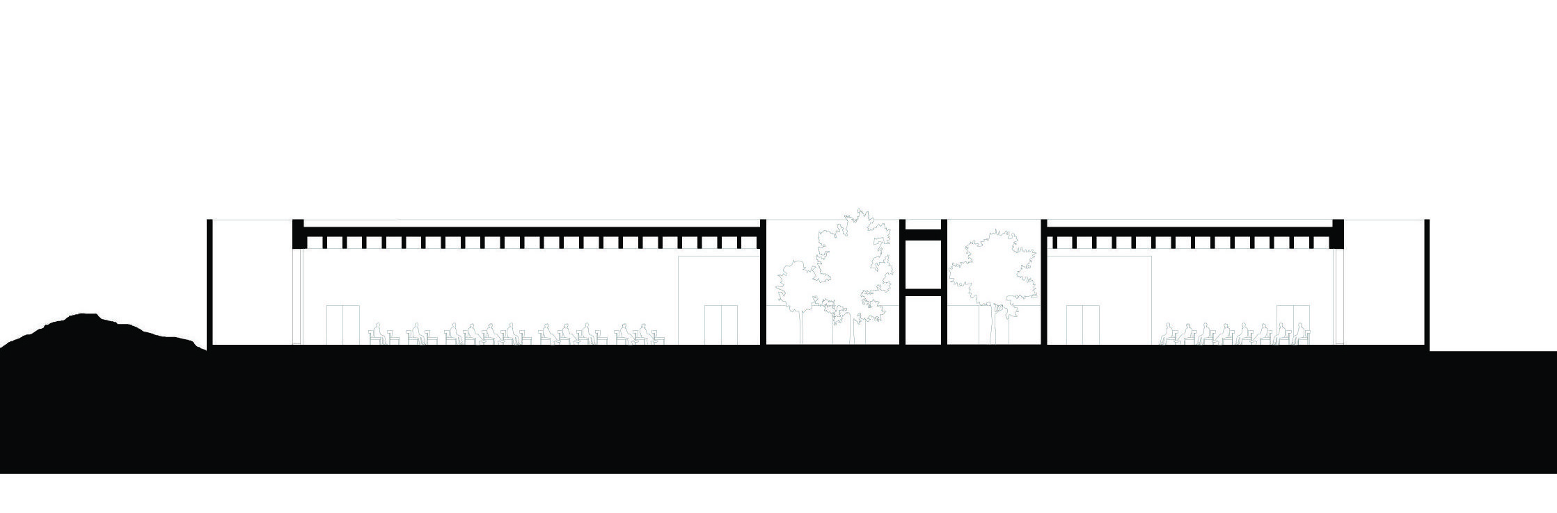 <p>section-e-e. Crematorium Siesegem -KAAN Architecten. beeld Simone Bossi</p>