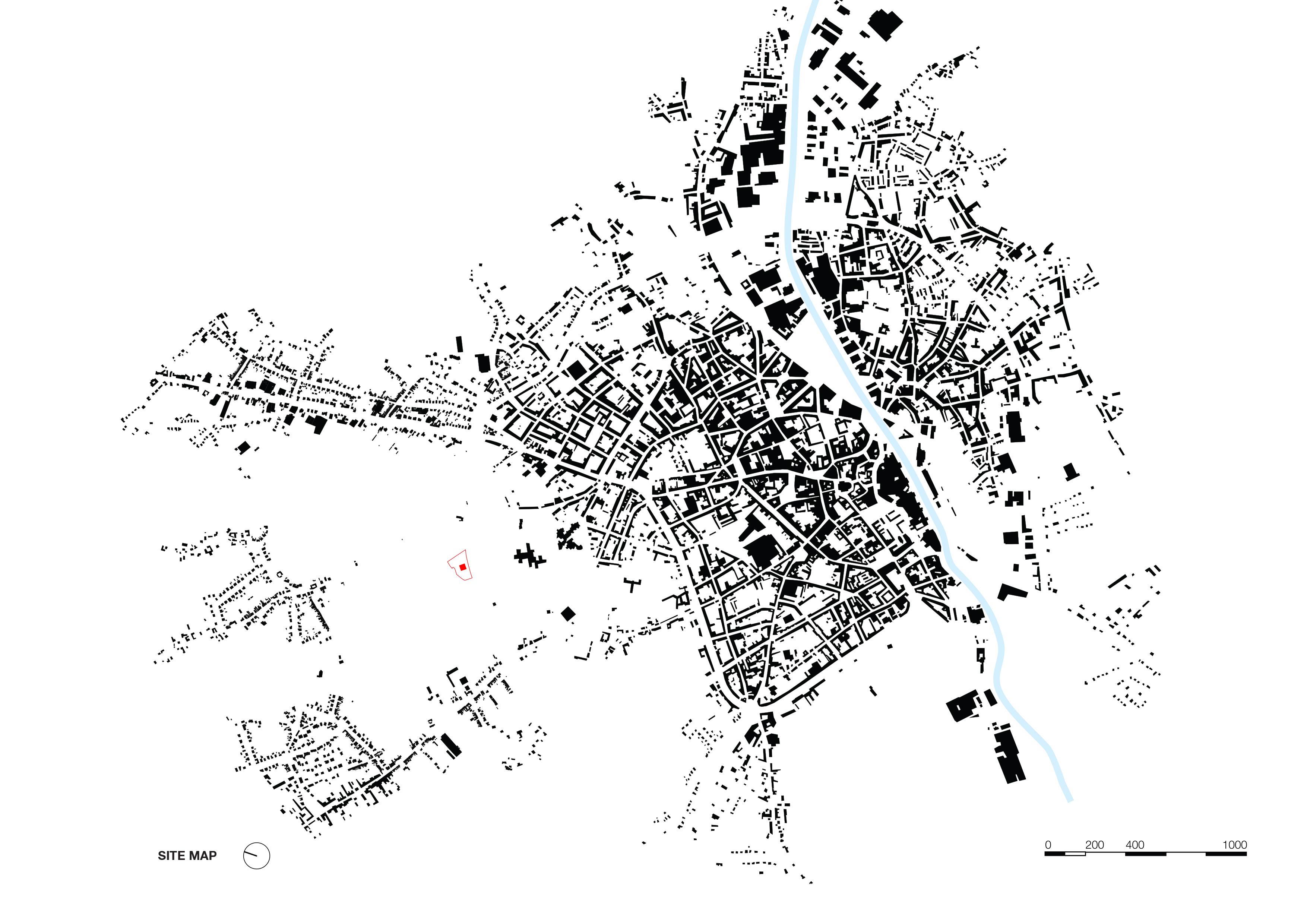 <p>siteplan map. Crematorium Siesegem -KAAN Architecten. beeld Simone Bossi</p>