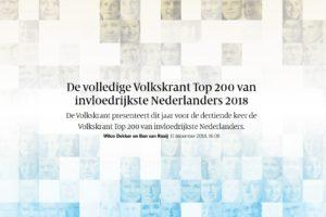 Volkskrant Top 200 van invloedrijkste Nederlanders