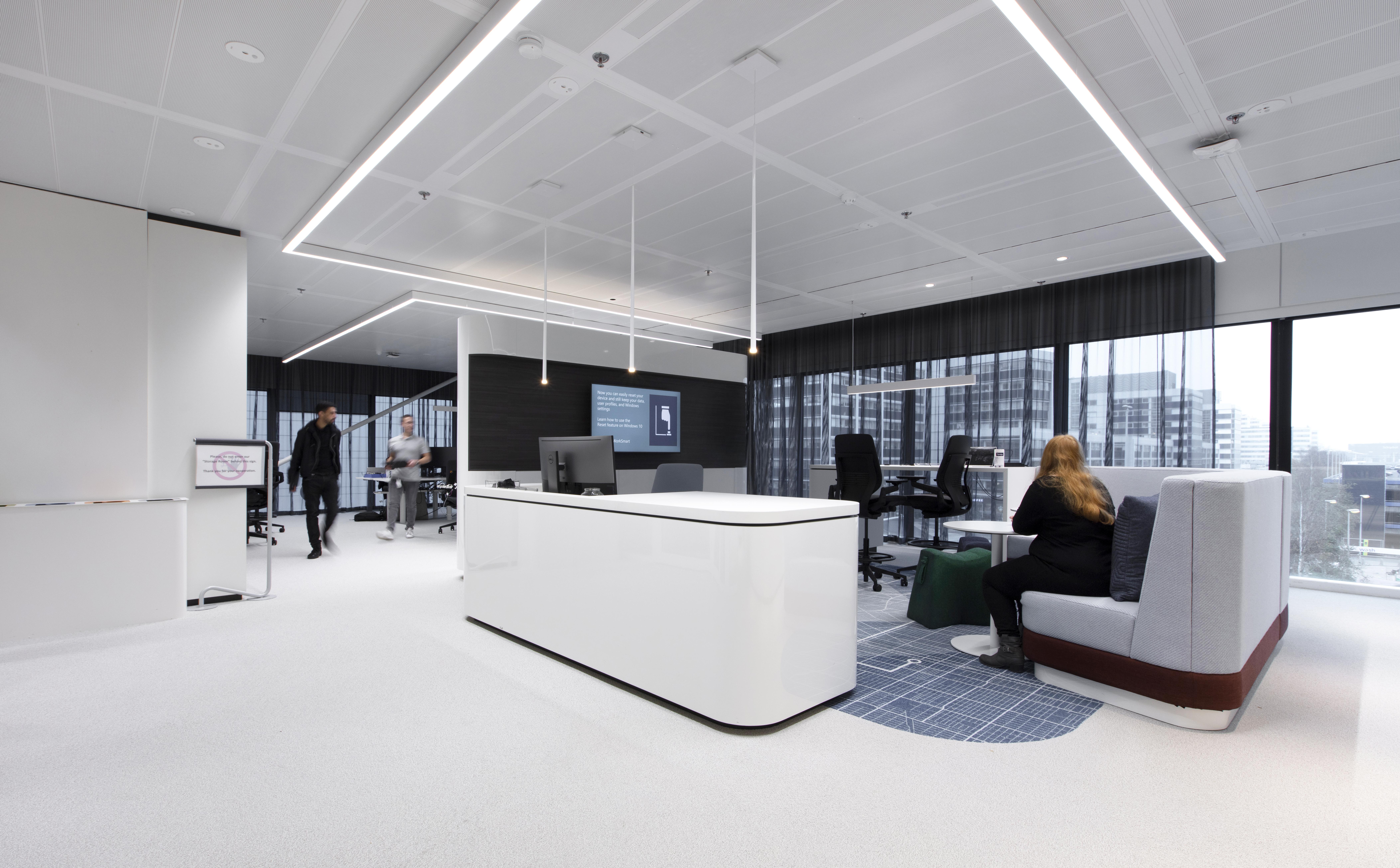 <p>Hoofdkantoor Microsoft Nederland in Amsterdam door D/DOCK, beeld Michael van Oosten</p>