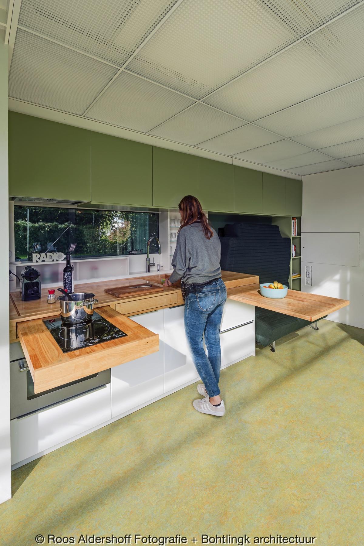 <p>Flexibele keuken.  Fotograaf Roos Aldershoff</p>