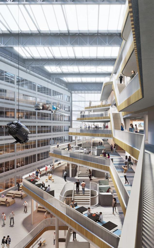 Conradhuis voor Hogeschool van Amsterdam door Team RSG (Powerhouse Company, de Architekten Cie. en Marc Koehler Architects), beeld Powerhouse Company