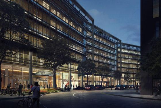 Google Hoofdkwartier Londen : Bam bouwt aan 11 21 canal reach londen door bennett ass. de architect