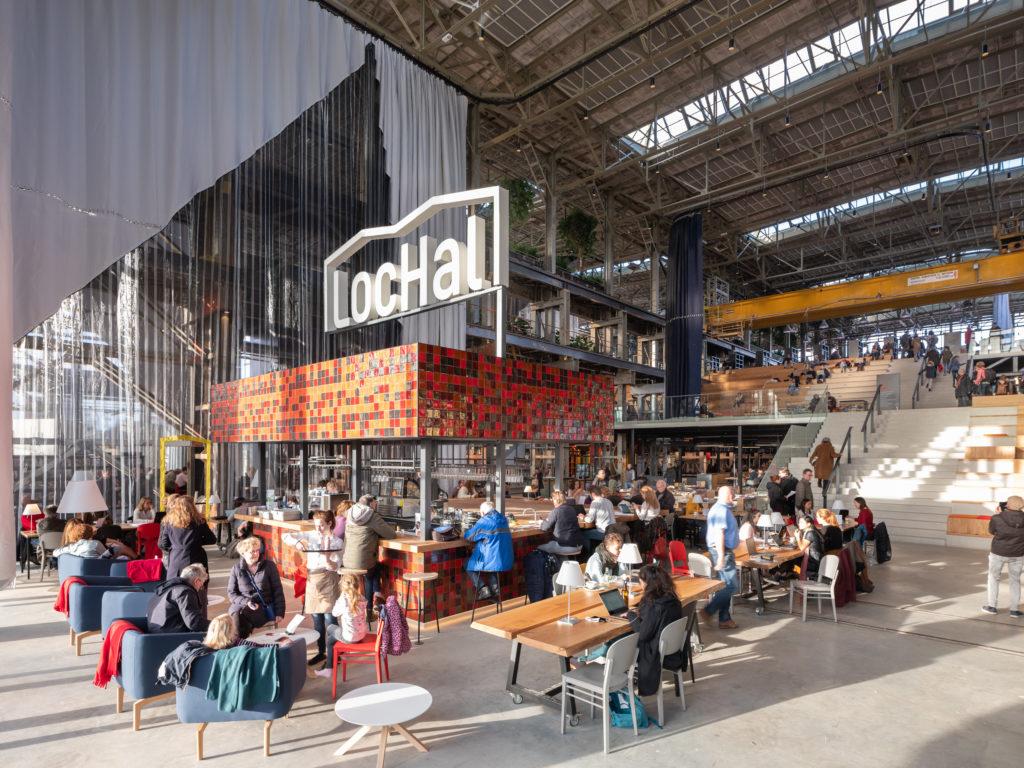 LocHal Tilburg door Civic, Braaksma & Roos, Inside Outside en Mecanoo, beeld Ossip van Duivenbode