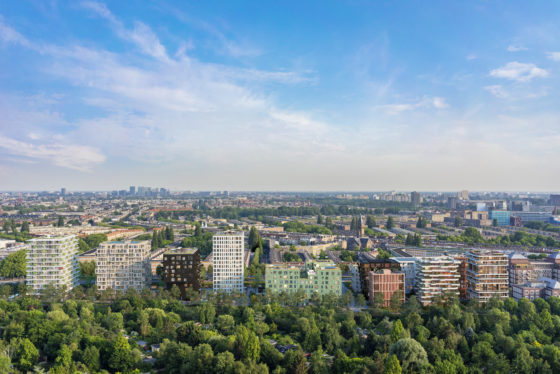 MVRDV transformeert kantorencomplex ING naar groene woonwijk Westerpark West Amsterdam