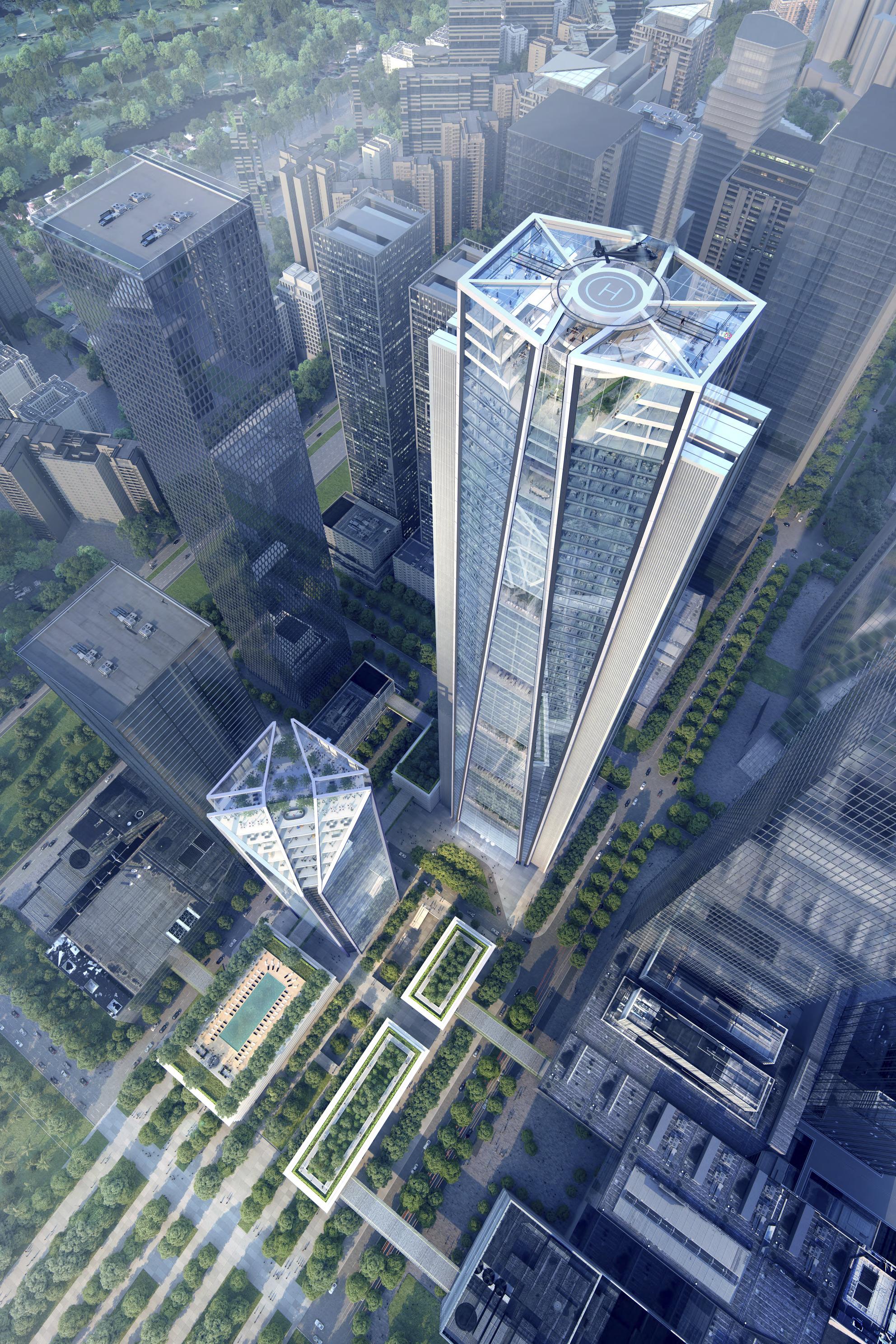 <p>China Merchants Bank HQ in Shenzhen door Foster + Partners, beeld Foster + Partners </p>