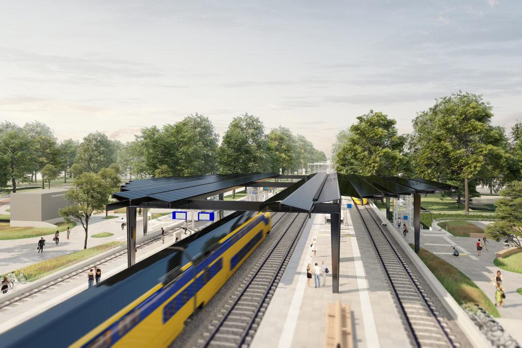 Station Delft Zuid door Benthem Crouwel Architects. Beeld: Jannes Linders